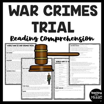 World War 2- War Crimes Trials Reading Comprehension- Work