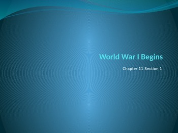 World War I Beginning