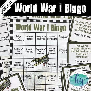 World War I Bingo