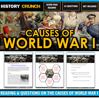 World War I Causes - Reading, Questions, Chart and Key (21