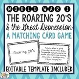World War I, Great Depression, Roaring 20's Card Game
