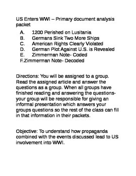 World War I: How Propaganda combines w/ events lead to US