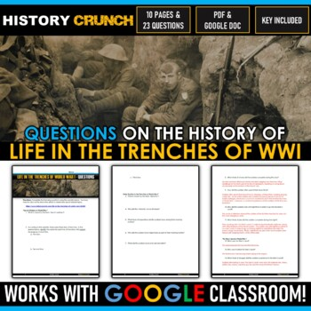 World War I Life in the Trenches - Reading, Questions and