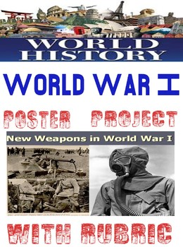 World War I New Type of War Weapon/Tactics Poster Rubric w