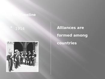 World War I Powerpoint Timeline with Graphic Organizer