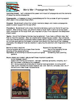 World War I Propaganda Poster Project