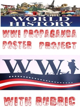 World War I Propaganda Poster Project Rubric with example