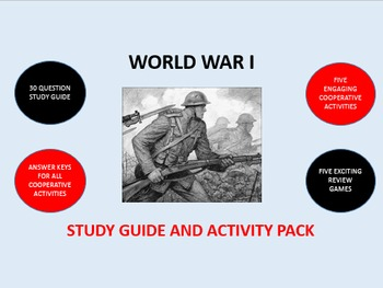 World War I: Study Guide and Activity Pack