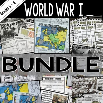 World War I (World War 1) Bundle