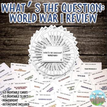 World War I (World War One) Review Activity