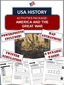 World War I and America Bundle - 47 Pages/Slides of Fun Stuff!