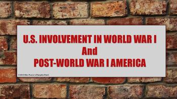 World War I and Post-World War I America