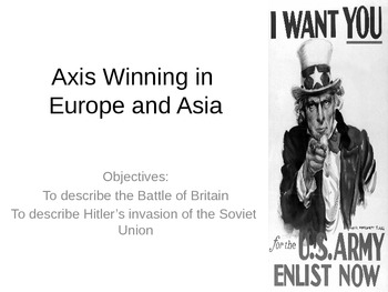 World War II: Axis Power Winning in Europe and Asia