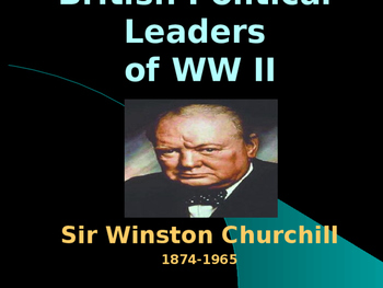 World War II - British Political Leaders - Winston Churchill