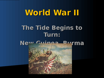 World War II - Pacific Theater - Battles of New Guinea, Bu