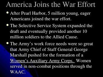 World War II Part 7 of 10 - America Joins the War Effort