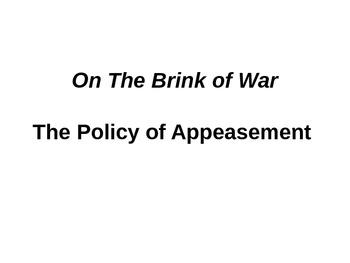 World War II: Policy of Appeasement