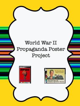 World War II Propaganda Poster Project