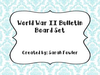 World War II (SS5H6) Bulletin Board Set