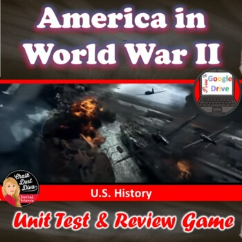World War II TEST & Review Game  - Editable/Common-Core (S