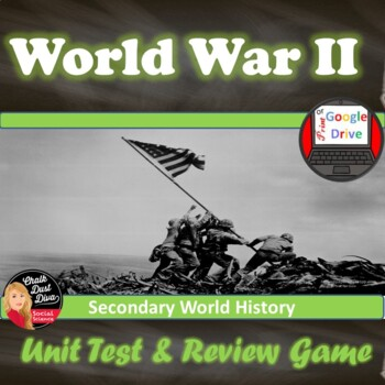 World War II Tests & Review Games - Common Core Q's! (Worl