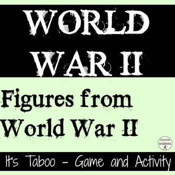 World War II Inquiry center activity and game for the Peop