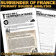 World War II The Surrender of France Primary Source Analys