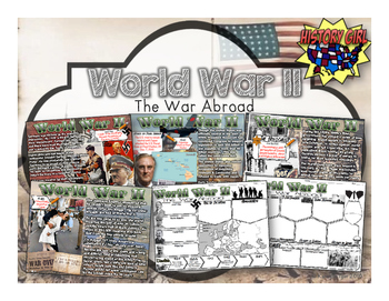 World War II- The War Abroad: PowerPoint and Student Infog