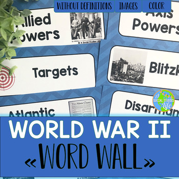 World War II Word Wall without definitions