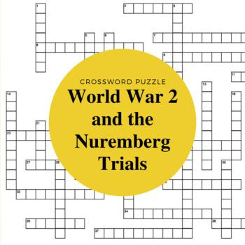 World War II and Nuremberg Crossword Puzzle