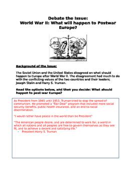 "World War II: debate"" Stalin vs Truman on what will happen"