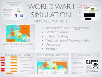 World War 1 Simulation Activity: Elementary Edition + 1 Ye