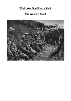 World War One Source Pack: Western Front