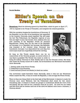 World War Two - Hitler's Speech on the Treaty of Versaille