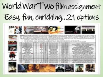 World War Two (WWII) film assignment - easy, fun, enrichin