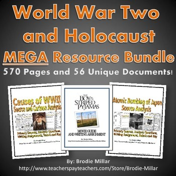 Holocaust and World War Two (WWII) MEGA Resource Bundle