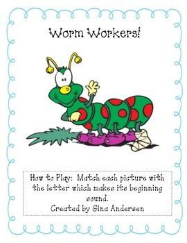 Worm Worker-Beginning Sounds