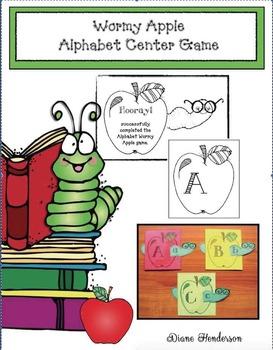 Wormy Apple Alphabet Center Game