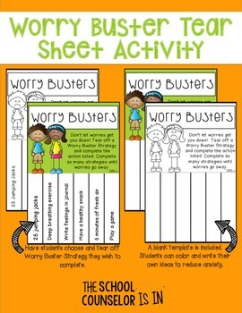 Worry Reducing Tear Sheet Activity