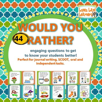 Would You Rather? 44 Getting to Know You Questions and Wri