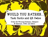 Would You Rather (Animal Edition)... Task Cards and QR Codes
