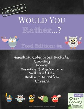 Would You Rather - Food and Cooking Edition