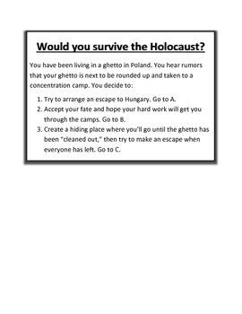 Would You Survive the Holocaust?