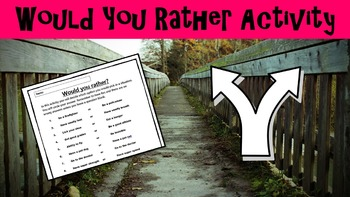 Would you Rather? Activity Sheet No Prep