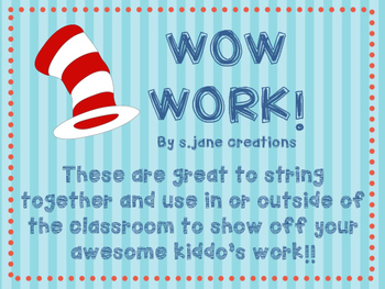 Wow Work- Dr. Seuss Edition