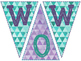 Wow Work Sign- Purple & Teal