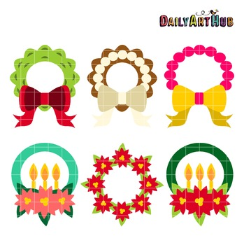 Wreaths Clip Art - Great for Art Class Projects!
