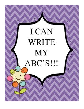 Write ABC's - Cute Kid Themed
