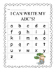 Write ABC's - Zookeeper Themed