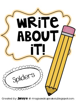 Write About It! Spiders